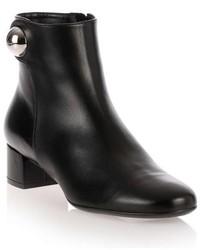 Salvatore Ferragamo Figaro Black Leather Ankle Boot