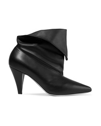 Givenchy Fold Over Leather Ankle Boots