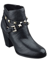 GUESS Fran Studded Leather Ankle Boots