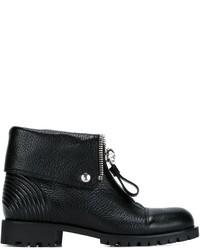 Alexander McQueen Front Zip Ankle Boots