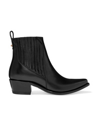 Valentino Garavani Ranch 40 Leather Ankle Boots