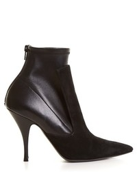 Givenchy Kalli Suede And Leather High Heel Ankle Boots
