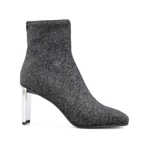 Lola Cruz Glitter Ankle Boots