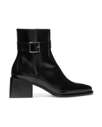 Jil Sander Glossed Leather Ankle Boots