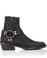 Balenciaga Harness Strap Leather Ankle Boots