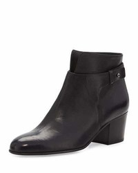 Vince Harriet Leather Ankle Boot Black