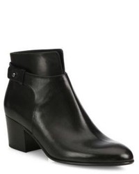 Vince Harriet Leather Block Heel Booties