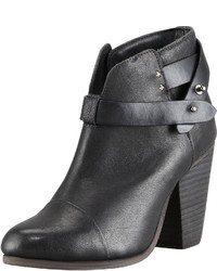 Rag & Bone Harrow Leather Ankle Boot Black