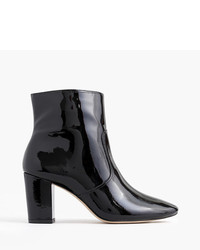 J.Crew Patent Leather Zip Ankle Boots