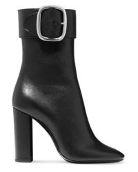 Saint Laurent Joplin Leather Ankle Boots