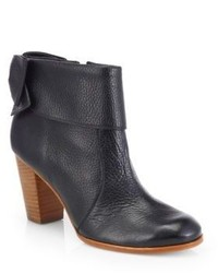 Kate Spade New York Lanise Bow Leather Ankle Boots