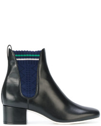 Fendi Knitted Panel Boots