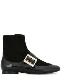 Lanvin Two Tone Ankle Boots