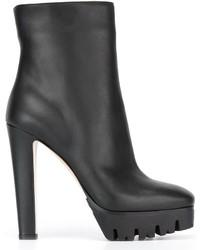 Le Silla Square Toe Ankle Boots