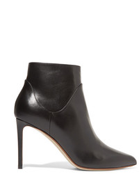 Francesco Russo Leather Ankle Boots Black