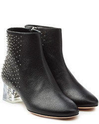 Alexander McQueen Leather Ankle Boots With Skull Heel