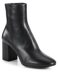 Balenciaga Leather Block Heel Booties