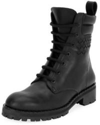 Bottega Veneta Leather Hiker Boot With Woven Detail