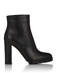 Gianvito Rossi Leather Side Zip Ankle Boots