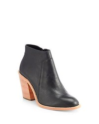 Loeffler Randall Ella Leather Ankle Boots Black