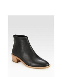 Loeffler Randall Felix Leather Ankle Boots Black