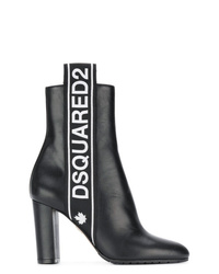 Dsquared2 Logo Stripe Ankle Boots
