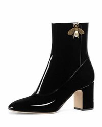 Gucci Lois Patent Leather Bee Bootie