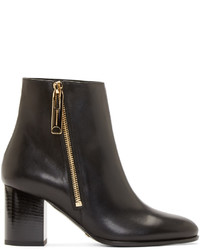 Burberry London Black Leather Ankle Boots