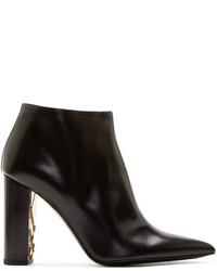 Burberry London Black Leather Bamburgh Ankle Boots