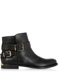 Burberry London Buckled Leather Ankle Boots