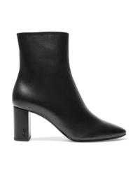 Saint Laurent Lou Leather Ankle Boots