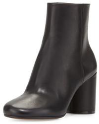 Maison Margiela Leather Cylinder Heel Ankle Boot Black