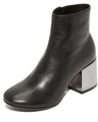 Maison Margiela Mm6 Metallic Heel Booties
