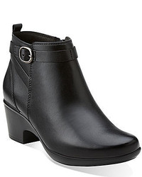 Clarks Malia Hawthorn Leather Booties