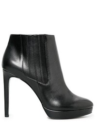 Mango Faux Leather Ankle Boots