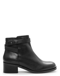 Mango Tab Leather Ankle Boots