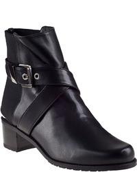 Stuart Weitzman Manlow Ankle Boot Black Leather
