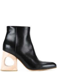 Marni Cut Out Heel Ankle Boots