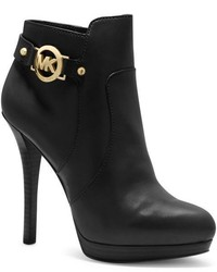 Michael Kors Michl Kors Wyatt Logo Leather Ankle Boot