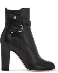 Jimmy Choo Mitchel 100 Buckled Leather Ankle Boots Black