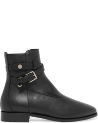 Jimmy Choo Mitchel Leather Ankle Boots Black