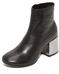 Maison Margiela Mm6 Metallic Heel Booties