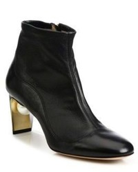Nicholas Kirkwood Mva Pearly Heel Leather Booties