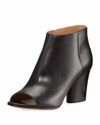 Maison Margiela Narrow Peep Toe Leather Bootie