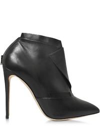Olgana Paris La Comtesse Black Leather Ankle Boot