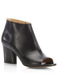 Maison Margiela Open Toe Leather Booties