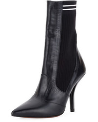 Fendi Polished 105mm Sock Bootie Black