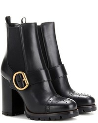 Prada Leather Ankle Boots