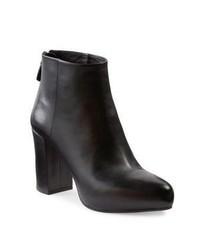 Prada Leather Block Heel Booties