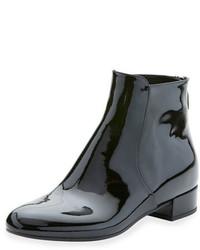 Prada Patent Zip Back 20mm Ankle Boot Nero
